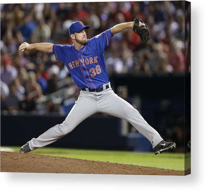 Atlanta Acrylic Print featuring the photograph New York Mets V Atlanta Braves by Mike Zarrilli