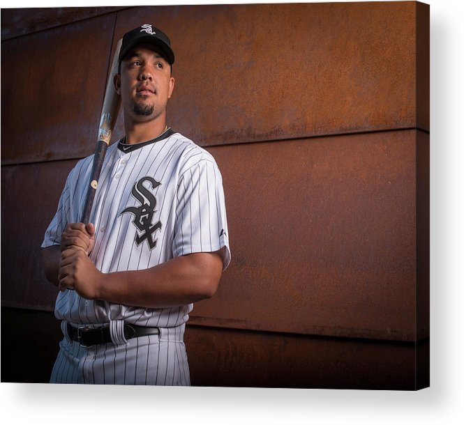 Media Day Acrylic Print featuring the photograph Chicago Whte Sox Photo Day by Rob Tringali