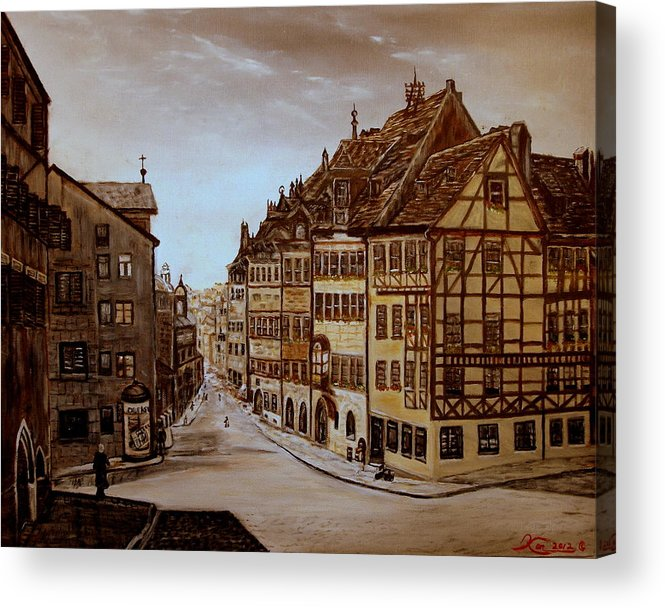Albrecht Durer Acrylic Print featuring the painting Albrecht Durers Home by Kenneth LePoidevin