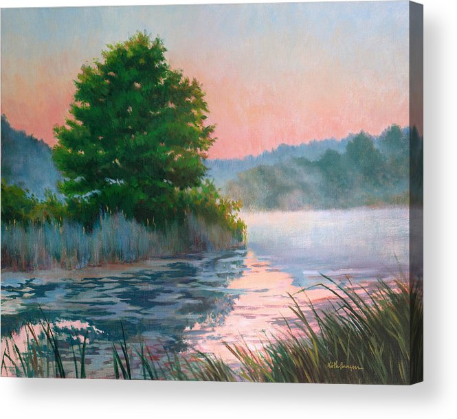 Impressionism Acrylic Print featuring the painting Break Of Day by Keith Burgess