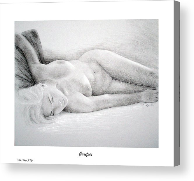 Joe Ogle Acrylic Print featuring the painting Care free-print only by Joseph Ogle