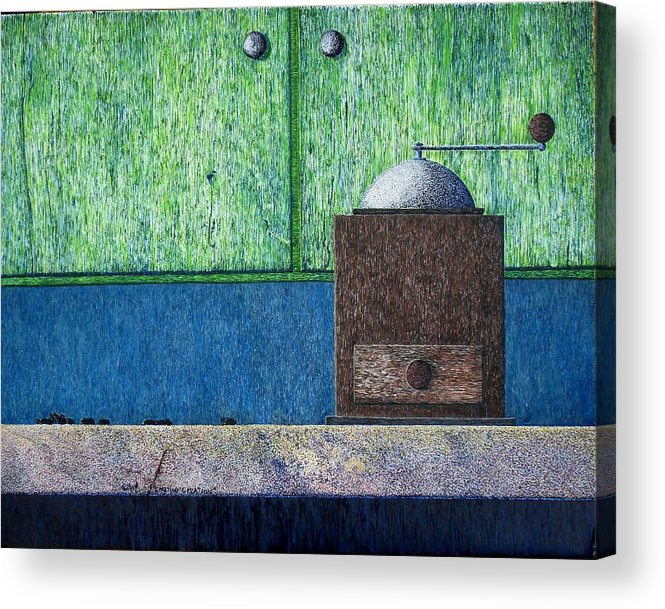 Still Life Acrylic Print featuring the painting Crafting Creation by A Robert Malcom