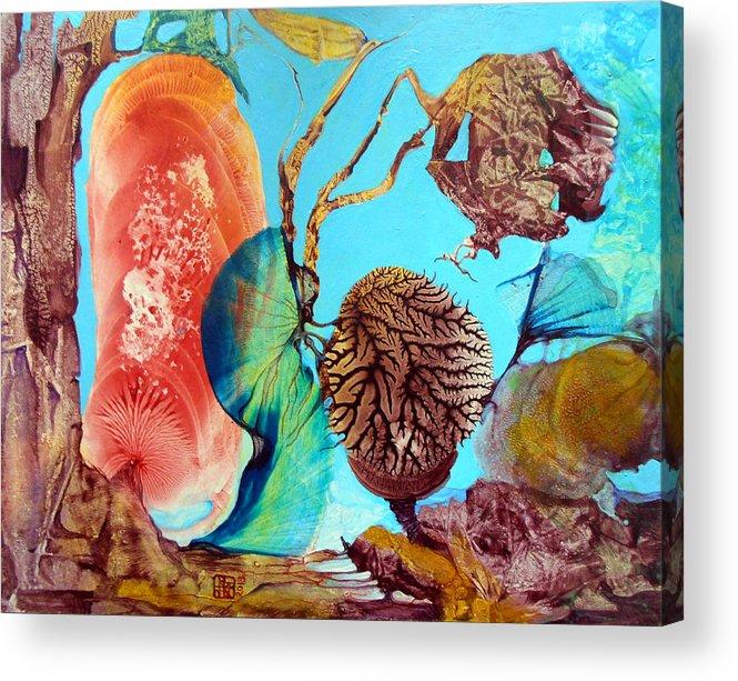 Landscape Acrylic Print featuring the painting Ernsthaftes Spiel Im Innerem Erdteil by Otto Rapp