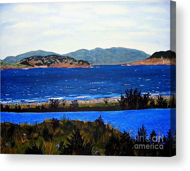 Islands Acrylic Print featuring the painting Iona formerly Rams Islands by Barbara Griffin
