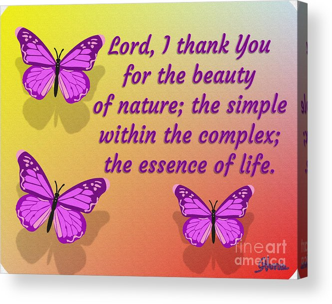Lord I Thank You For The Beauty Of Nature Acrylic Print featuring the digital art Lord I Thank You for the Beauty of Nature by Pharris Art