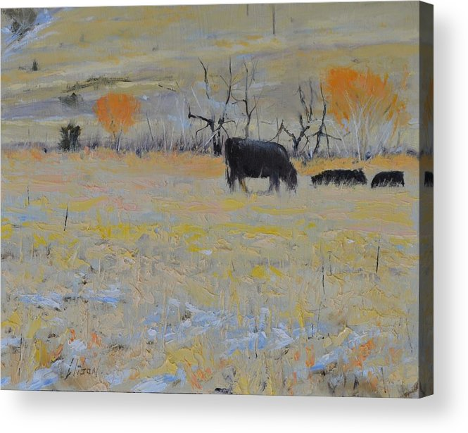 Landscape Acrylic Print featuring the painting Lunch by Greg Clibon