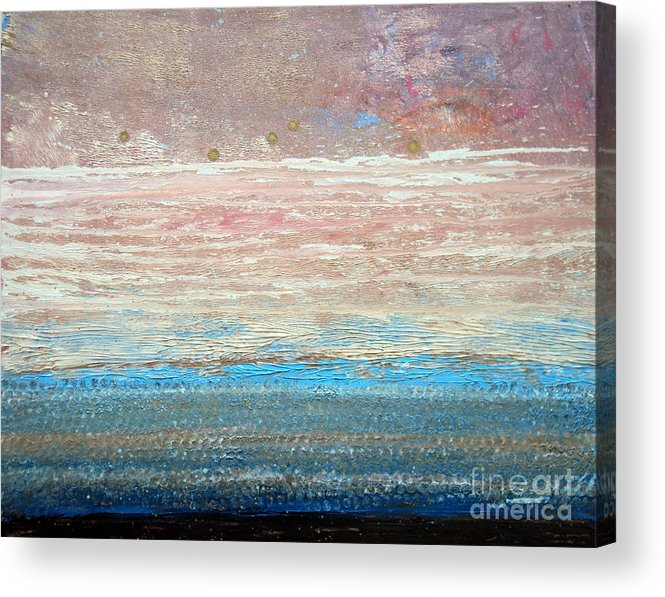 Textured Acrylic Print featuring the painting Mindscape 2013 by Laura Tasheiko
