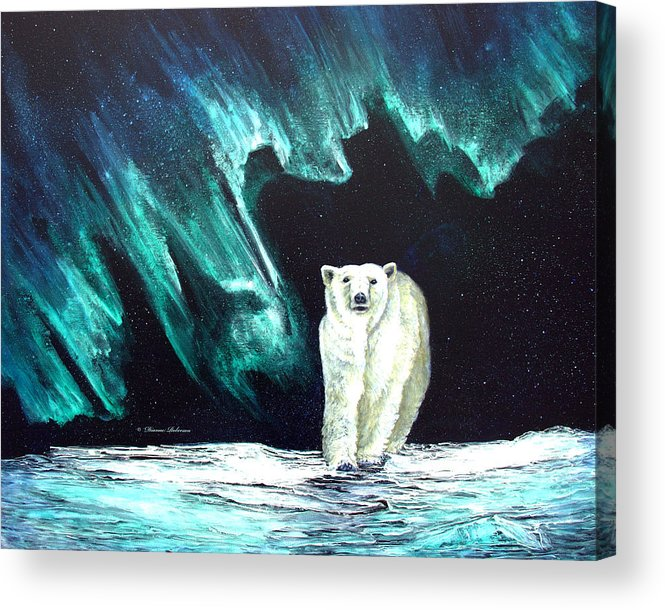 Alaska Acrylic Print featuring the painting Monarch of His Arctic Domain by Dianne Roberson