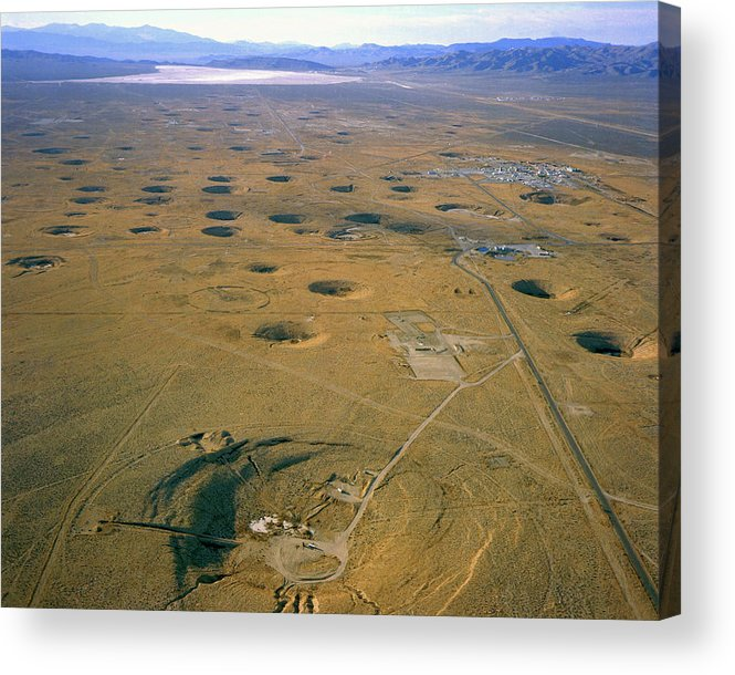 Nevada Test Site Atom Bomb Craters Acrylic Print By Los Alamos National Laboratory