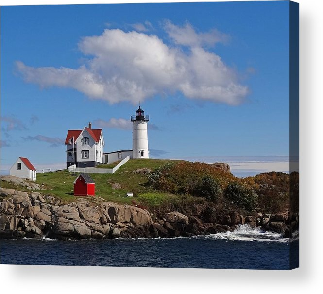 Tranquility Acrylic Print featuring the photograph Nubble Lighthouse by Photo Jacques Trempe