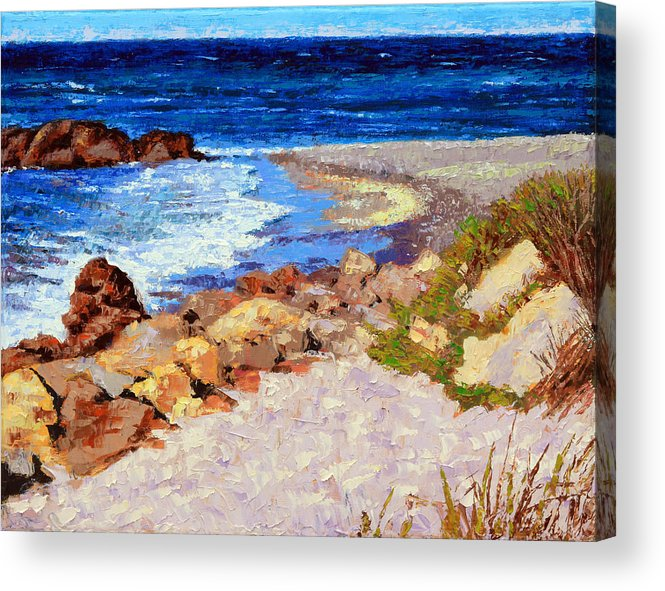 Ocean Acrylic Print featuring the painting Ocean Patterns by John Lautermilch
