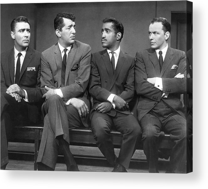 1960 Acrylic Print featuring the photograph Ocean's Eleven Rat Pack by Underwood Archives