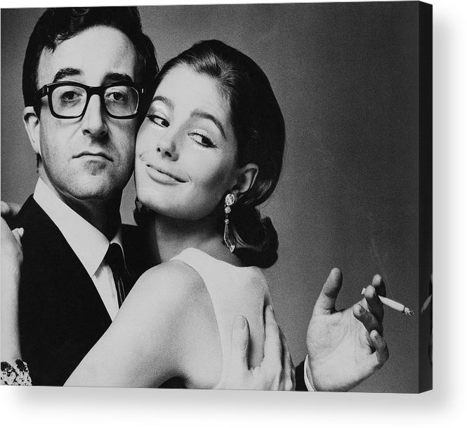 Actor Acrylic Print featuring the photograph Peter Sellers Posing With A Model by Jereme Ducrot