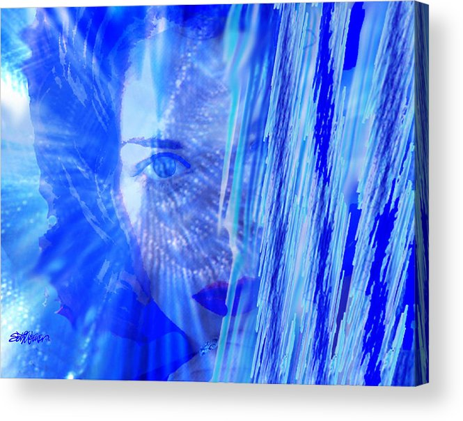 Rainy Day Dreams Acrylic Print featuring the digital art Rainy Day Dreams by Seth Weaver