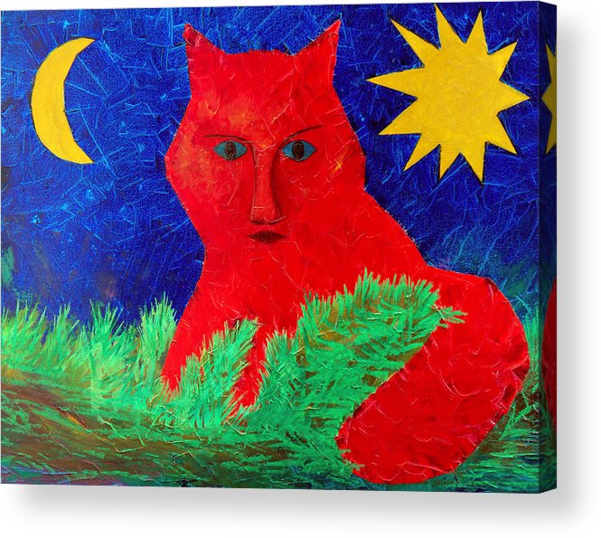 Fantasy Acrylic Print featuring the painting Red by Sergey Bezhinets