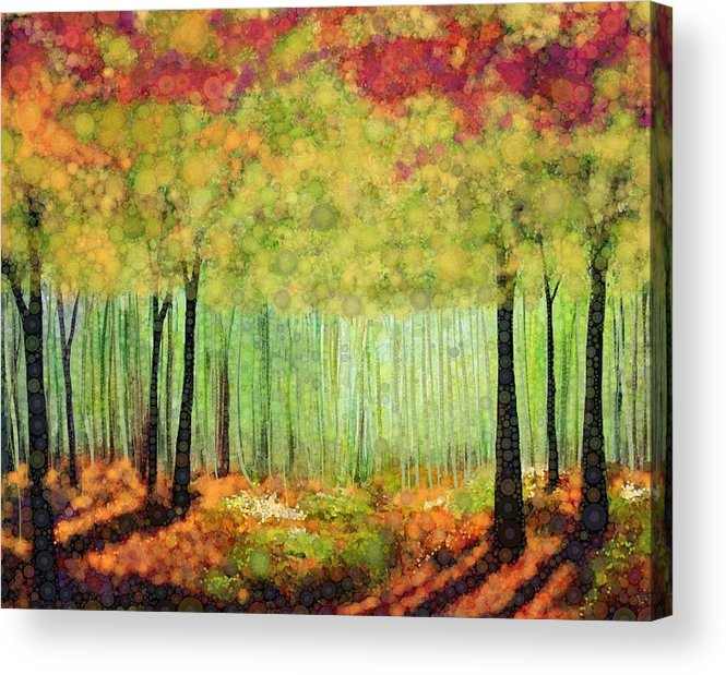 Magical Fall Colors That Invite Your Imagination To Dream. Delicate White Flowers Dot The Landscape Acrylic Print featuring the digital art Something Good by Steven Boland