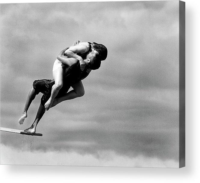 Acrobates Acrylic Print featuring the photograph The Point Of No Return by Tatyana Druz