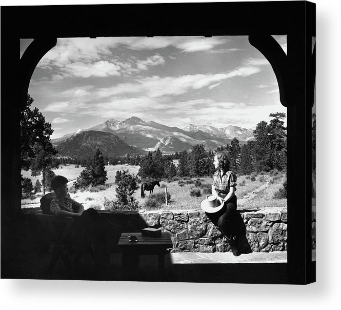 Exterior Acrylic Print featuring the photograph The Son And Daughter Of Mr. And Mrs. Roger L by Maynard Parker