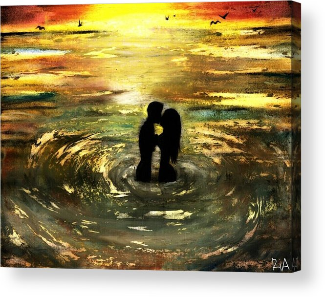 Beautiful Acrylic Print featuring the photograph The Vow by Artist RiA