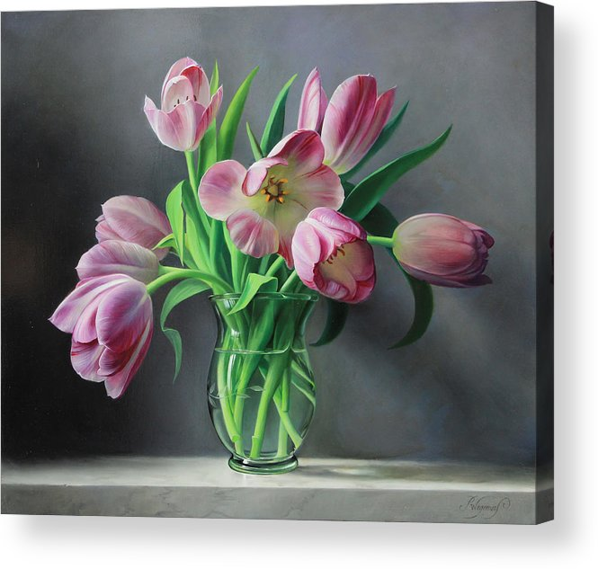Tullips Acrylic Print featuring the painting Tullips from Holland by Pieter Wagemans