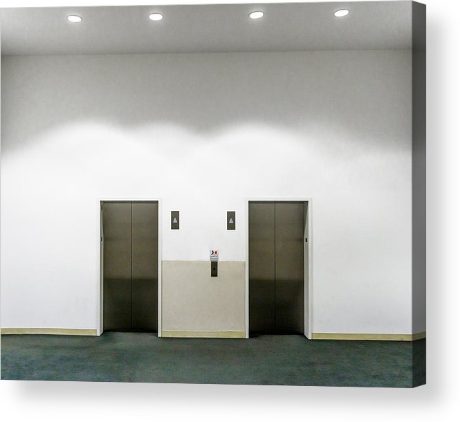 Empty Acrylic Print featuring the photograph View Of Elevators by Jesse Coleman / EyeEm