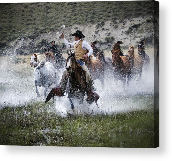 Sombrero Ranch Acrylic Print featuring the photograph Water Wranglers by Pamela Steege