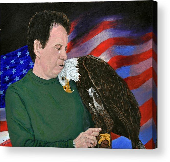 Freedom Acrylic Print featuring the painting Freedom Friends by Stan Hamilton
