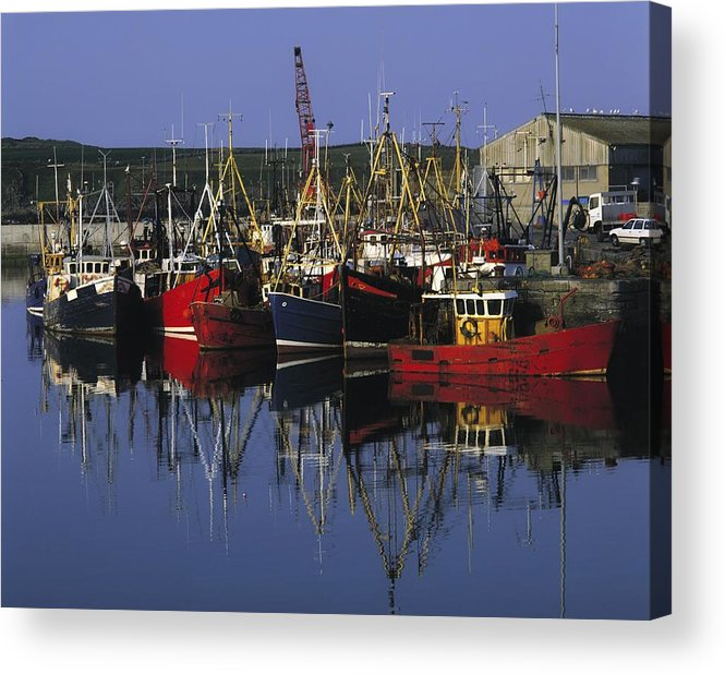 Ardglass Acrylic Print featuring the photograph Ardglass, Co Down, Ireland Fishing by The Irish Image Collection