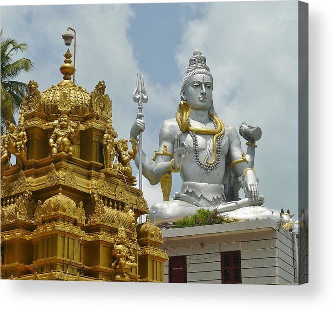 Large Acrylic Print featuring the photograph Inside Murudeshwara Temple 2 by Sandeep Gangadharan