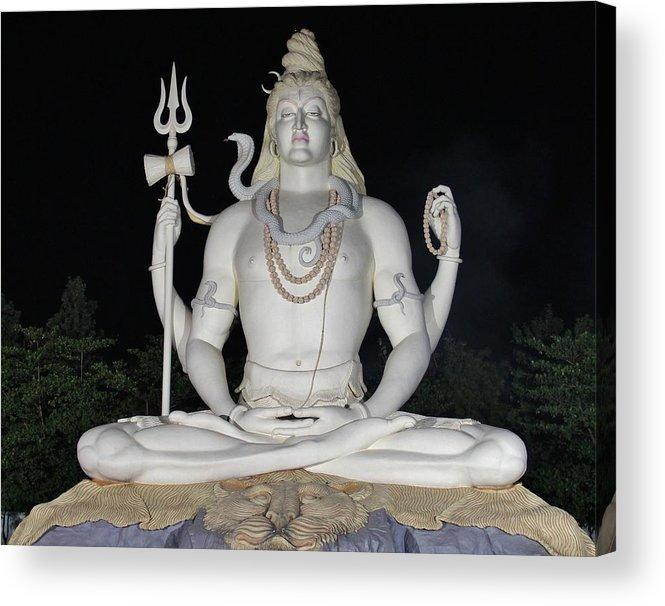 Big Acrylic Print featuring the photograph Shiva Statue at Kachnar City by Sandeep Gangadharan