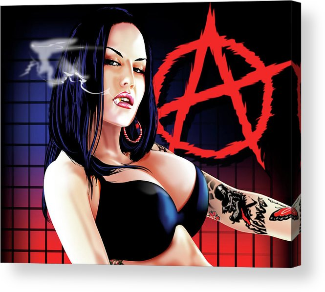 Anarchy Acrylic Print featuring the drawing Anarchy by Brian Gibbs