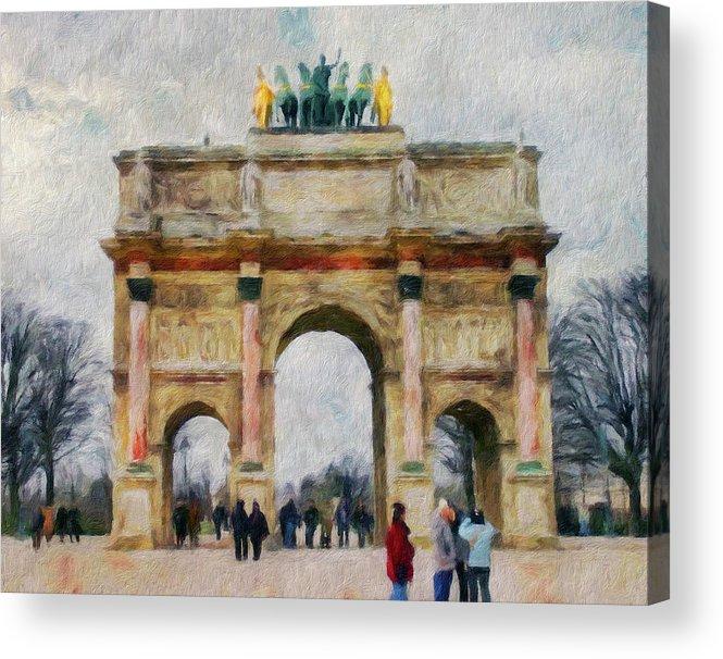 Paris Acrylic Print featuring the digital art Paris Arc by Yury Malkov