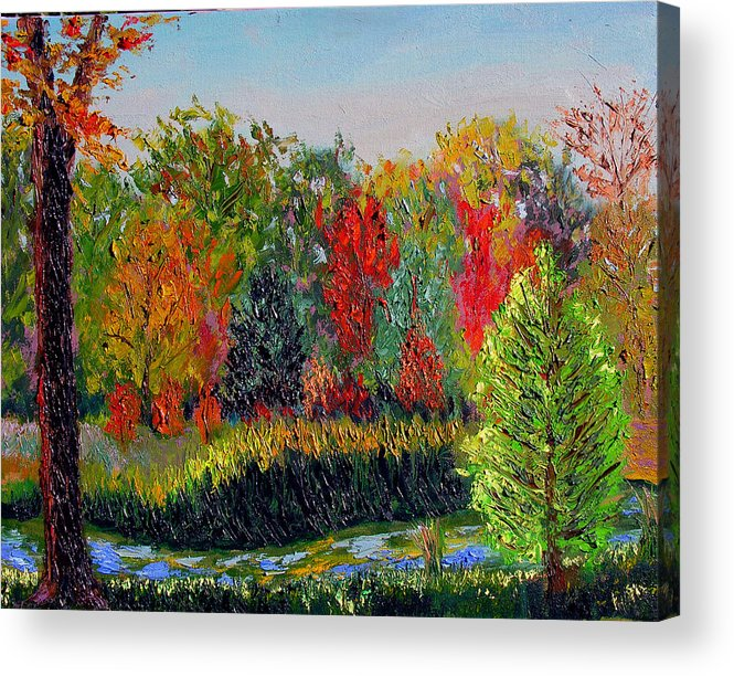 Landscape Acrylic Print featuring the painting Sewp 10 10 by Stan Hamilton