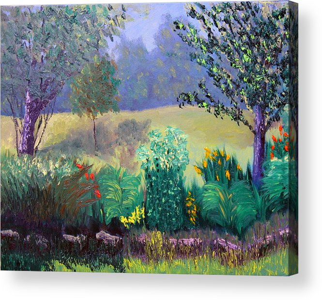Landscape Acrylic Print featuring the painting Sewp 6 23 by Stan Hamilton