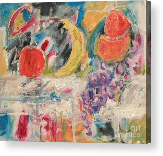 Stil Life Acrylic Print featuring the painting Still Life with Fruit by Michael Henderson