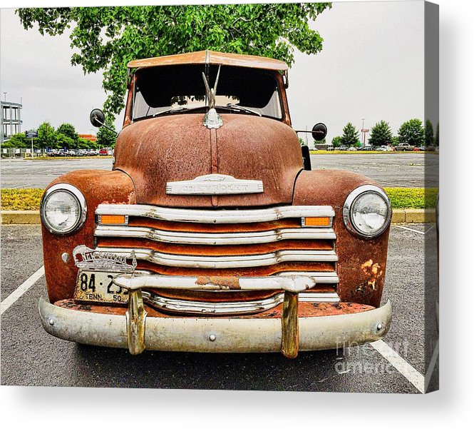 Classic Acrylic Print featuring the photograph 1950 Tn Chevy Pick Up by Sue M Marshall