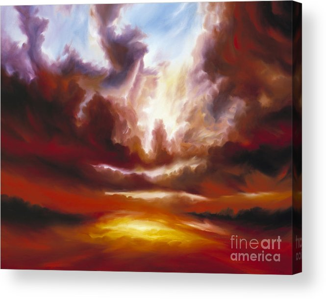 Tempest Acrylic Print featuring the painting A Cosmic Storm - Genesis V by James Christopher Hill