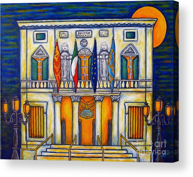 Theatre Acrylic Print featuring the painting A Night at the Fenice by Lisa Lorenz