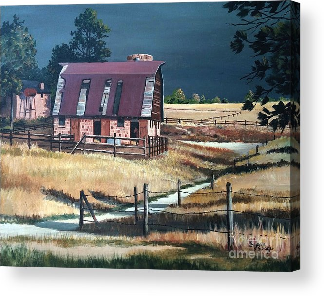 Scene Acrylic Print featuring the painting After the storm by Suzanne Schaefer