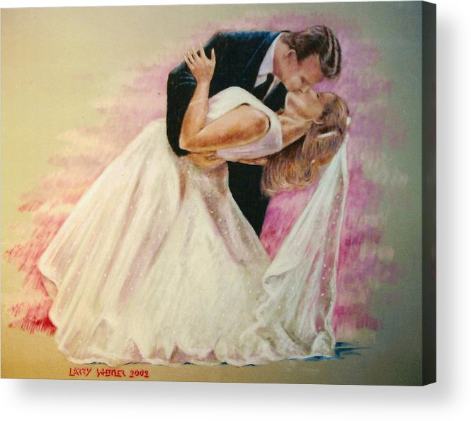 Wedding Acrylic Print featuring the pastel Allen And Trish by Larry Whitler