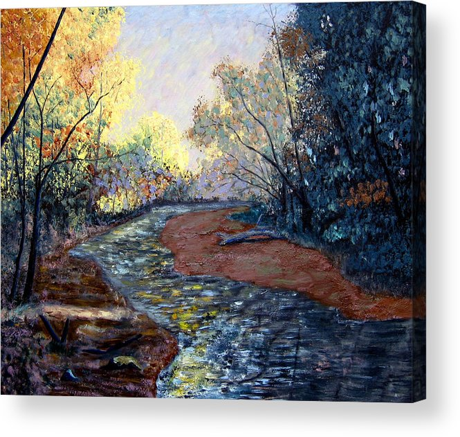 Landscape Acrylic Print featuring the painting Angels In Nature by Stan Hamilton