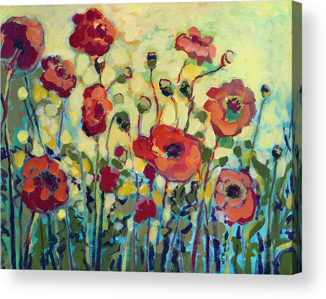 Poppy Acrylic Print featuring the painting Anitas Poppies by Jennifer Lommers