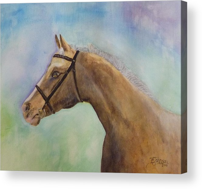 Horse Acrylic Print featuring the painting Arizona by Beverly Johnson