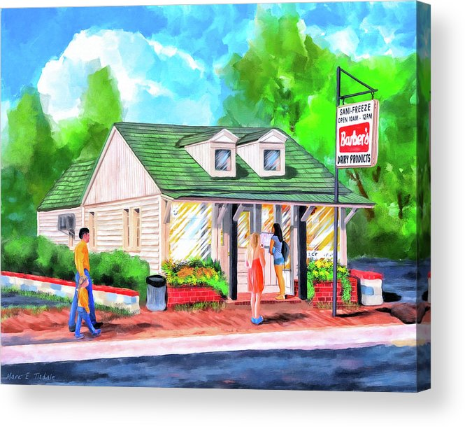 Auburn Acrylic Print featuring the painting Auburn Sani-Freeze - The Flush by Mark Tisdale