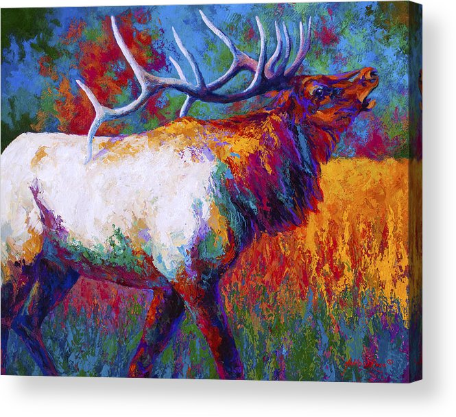 Elk Acrylic Print featuring the painting Autumn by Marion Rose
