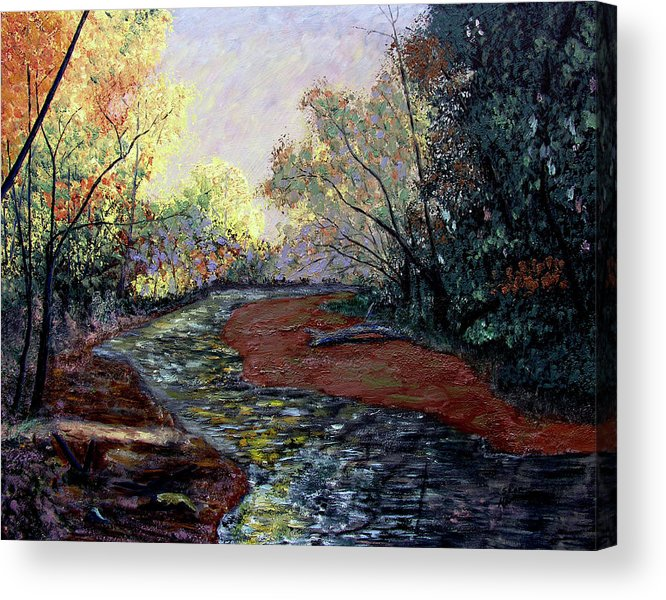 Fall Acrylic Print featuring the painting Autumn Road by Stan Hamilton