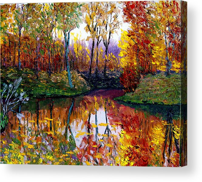 Lake Acrylic Print featuring the painting Avon by Stan Hamilton