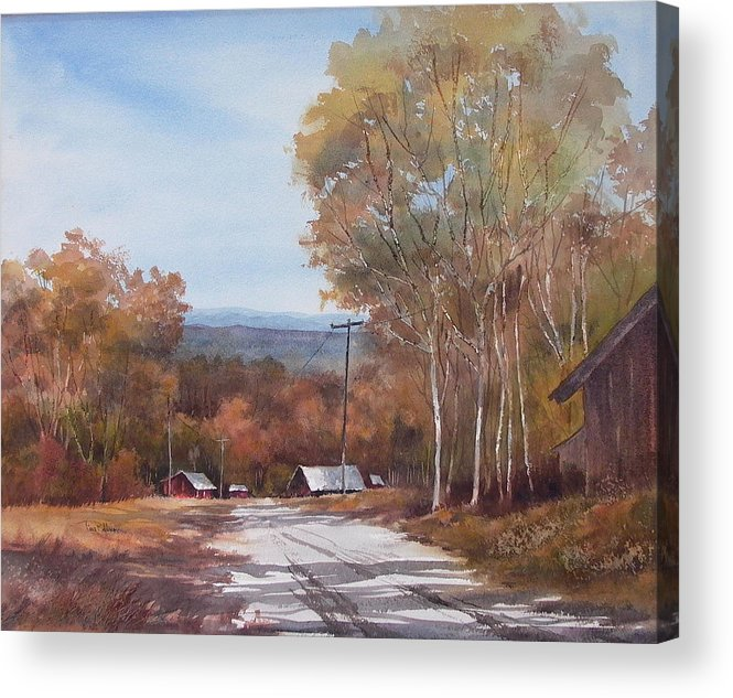 Landscape Acrylic Print featuring the painting Awesome Autumn by Tina Bohlman