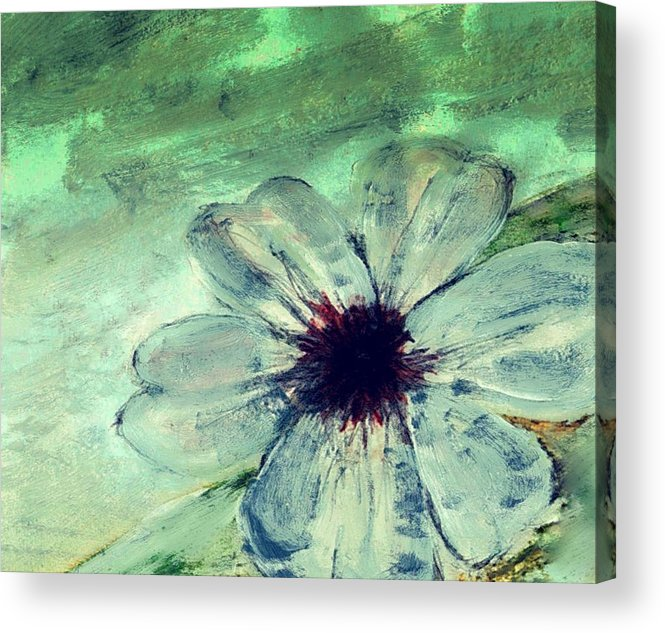 Flower Acrylic Print featuring the painting Bad weather for fragile things by Joseph Ferguson