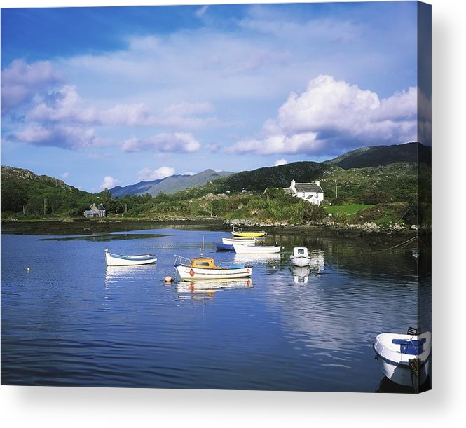 Oat Acrylic Print featuring the photograph Ballycrovane Harbour, Beara Peninsula by The Irish Image Collection